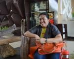 It's me, at Azisa Paradise Hotel in Philippines, Puerto Princesa City, Palawan.